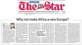 Neden Afrikayı yeni bir Avrupa yapmıyoruz